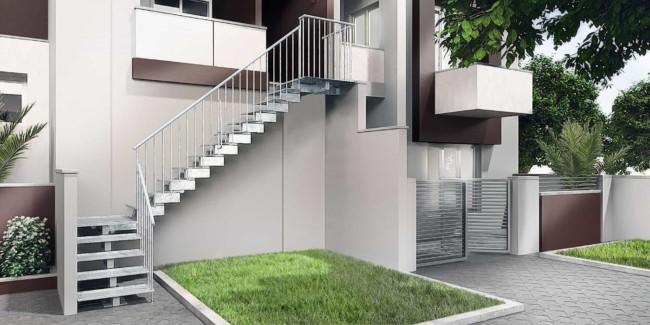 Escada externa modelo L