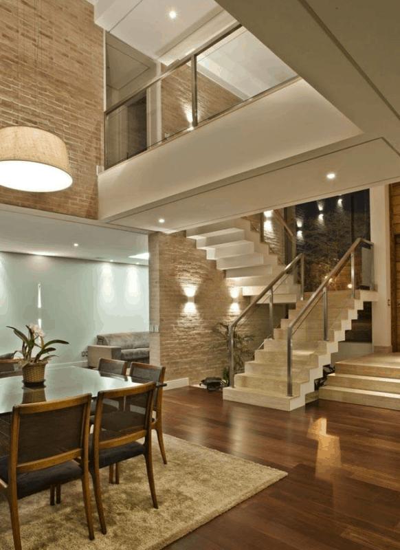 Escada moderna no estilo cascata