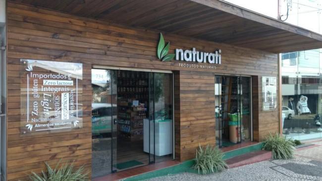 Fachada criativa e moderna para loja de produtos naturais