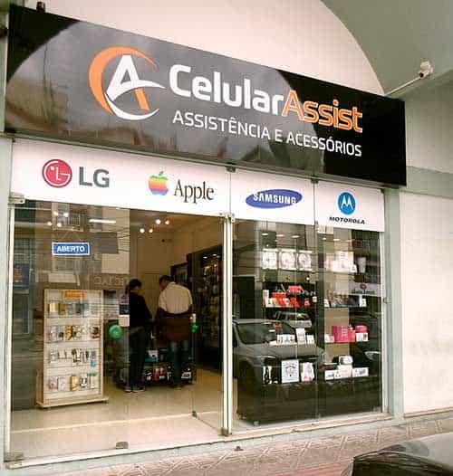 Fachada de loja para assistencia de celulares