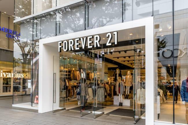 Fachada de lojas de roupas moderna