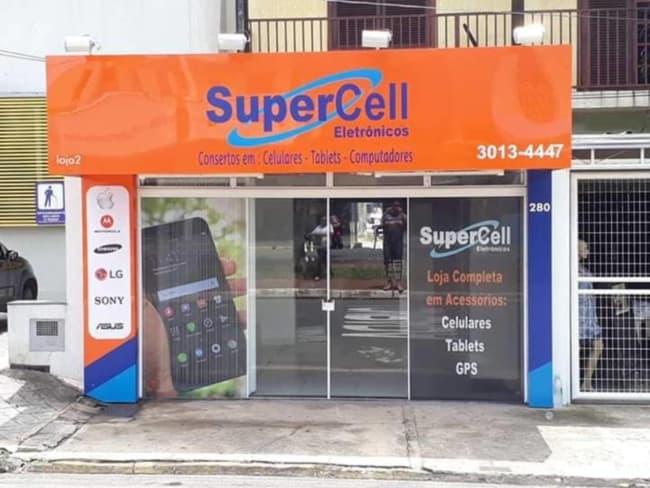 Fachada para loja de celular simples