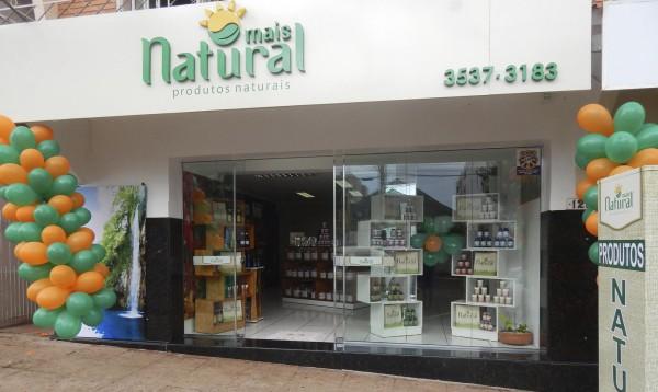 Fachada simples para comercio de produtos naturais