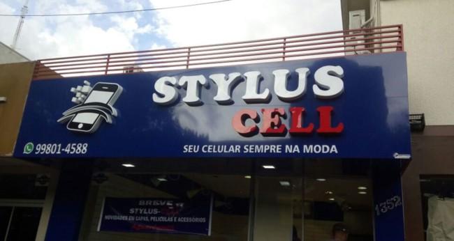 Fachada simples para loja de celular