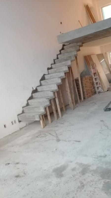 Fase da construcao da escada plissada
