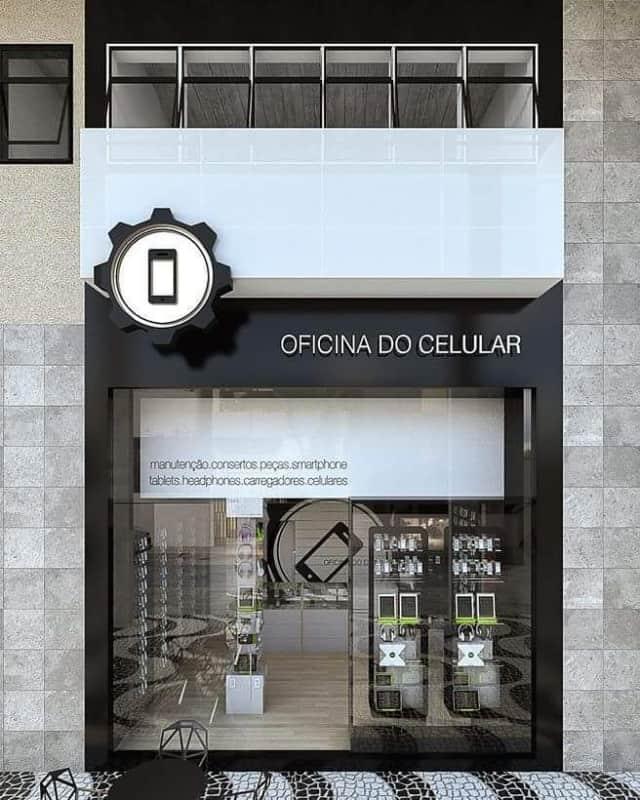 Loja de celular com fachada peqiena