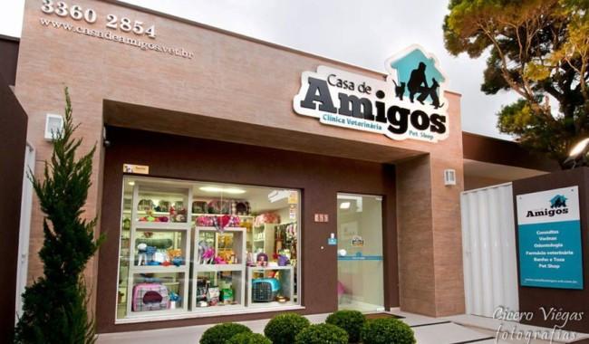 Pet shop com fachada bela e simples