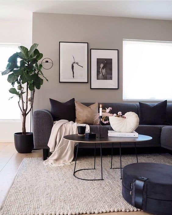Sala com estilo minimalista
