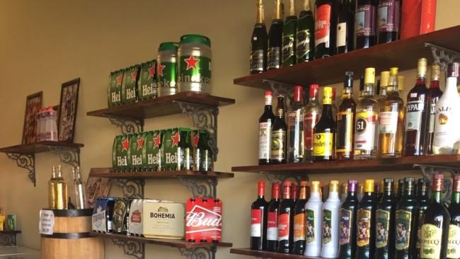 bebidas alcoolicas no seposito