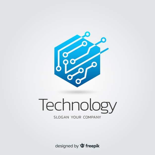 logotipo de empresa de tecnologia abstrata gradiente 52683 9703