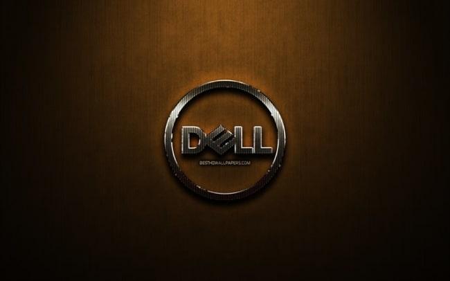thumb2 dell glitter logo creative bronze metal background dell logo brands