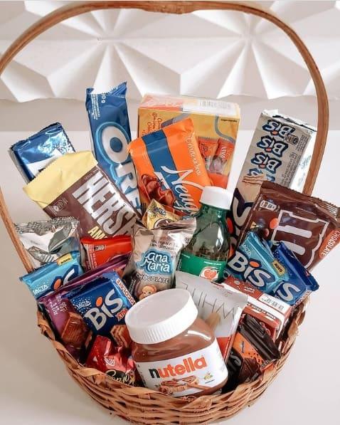 dicas de chocolates para montar cesta