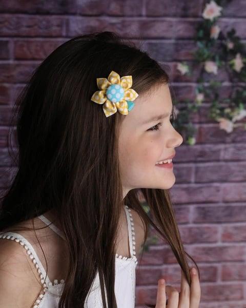 flor de tecido infantil para cabelo