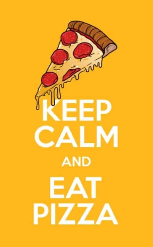 frase de pizza em ingles