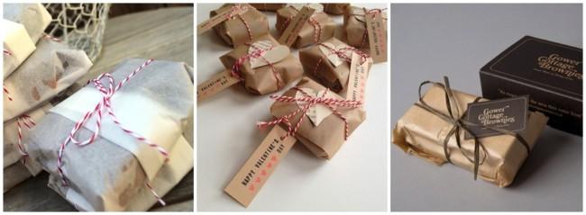 embalagem de papel para brownie