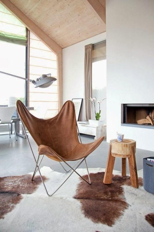 cadeira butterfly confortavel para decoracao da sala