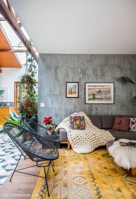 decoracao de sala com cadeira acapulco