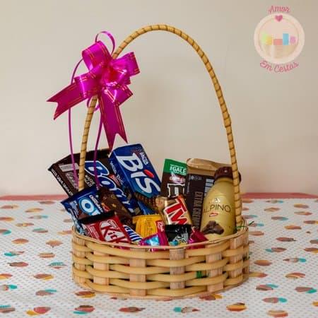 inspiracao de cesta de chocolate pequena