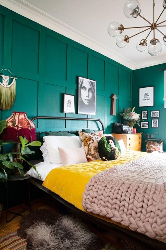 como decorar quarto em verde e amarelo