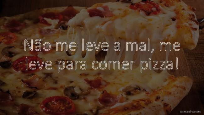 frase divertida para pizzaria