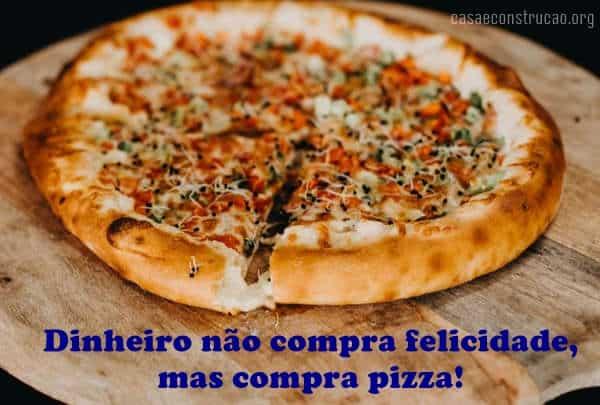 frase de pizza com imagem
