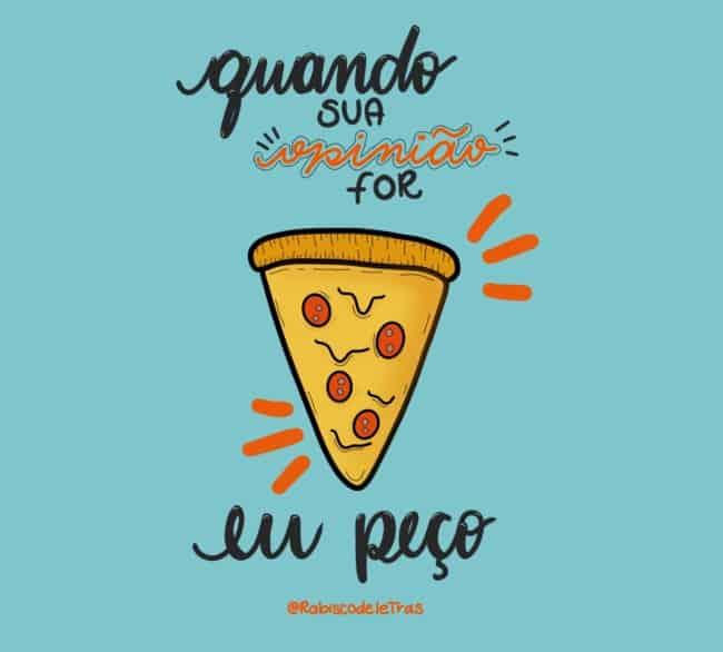 imagem engracada para frase de pizza