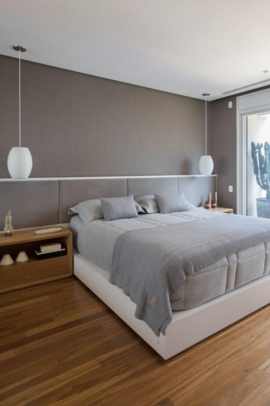 decoracao de quarto de casal em cinza claro