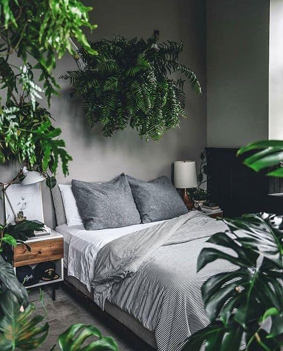 quarto cinza urban jungle