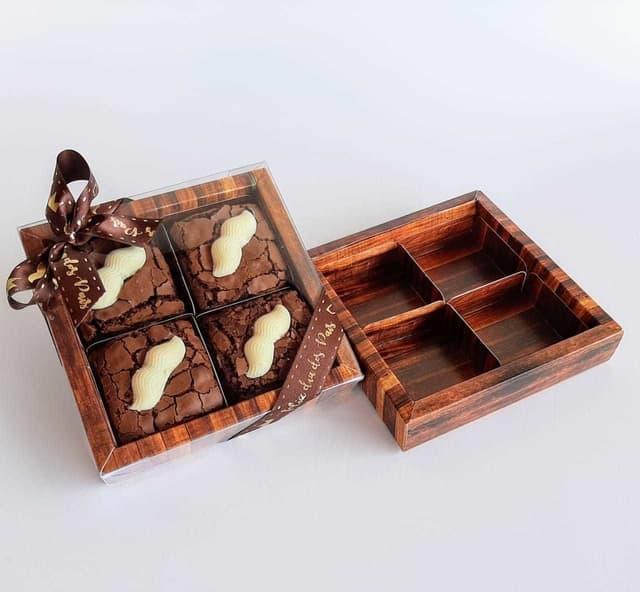 caixinha de presente para brownie