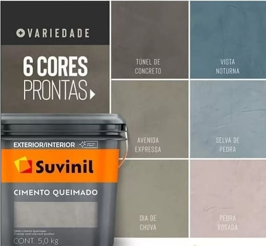 opcoes de cores tinta cimento queimado Suvinil