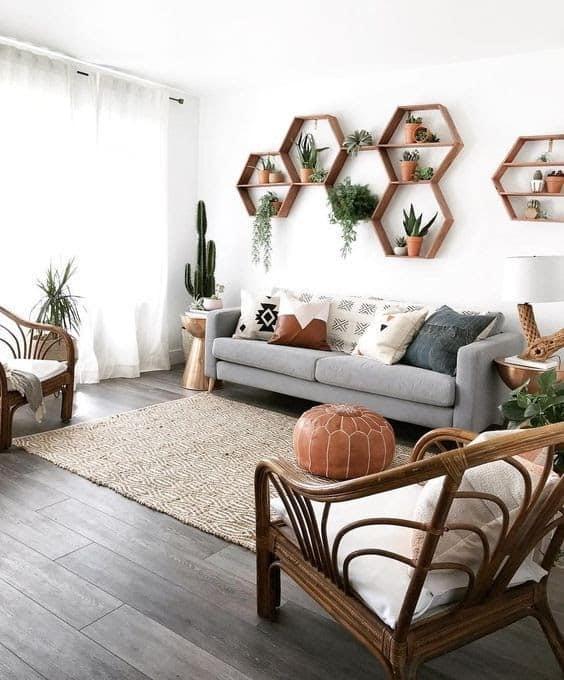 decoracao com plantas para sala feng shui