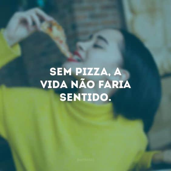 ideia de frase de pizza