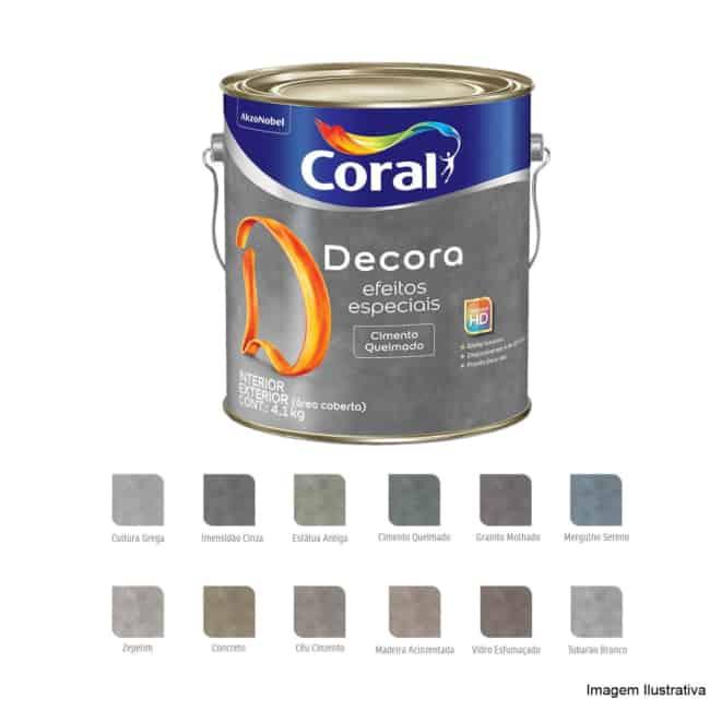 cores de tinta cimento queimado Coral