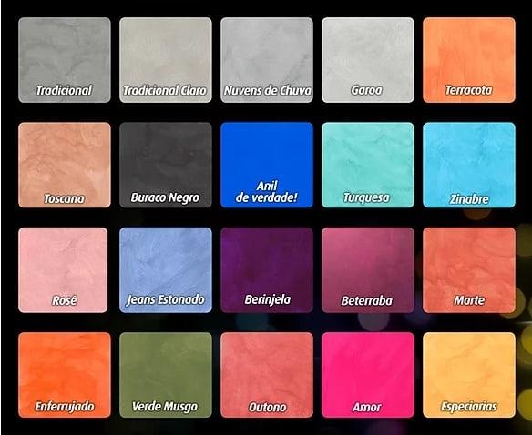 marca e cores de tinta cimento queimado