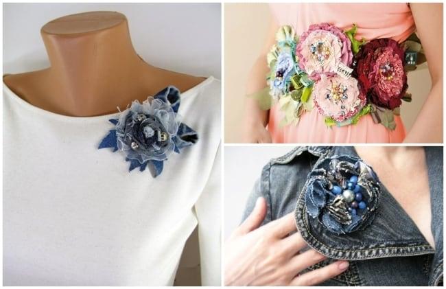 flor de tecido para roupa