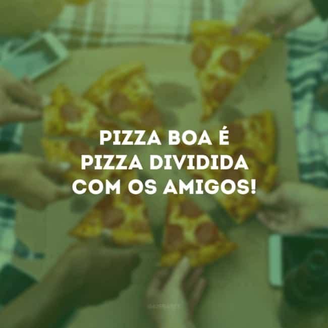 frase de pizza para amigos