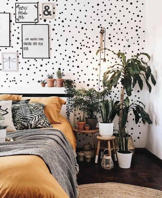 decoracao de quarto com plantas