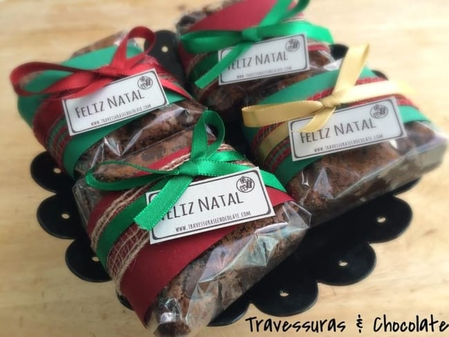 embalagem de natal para brownie