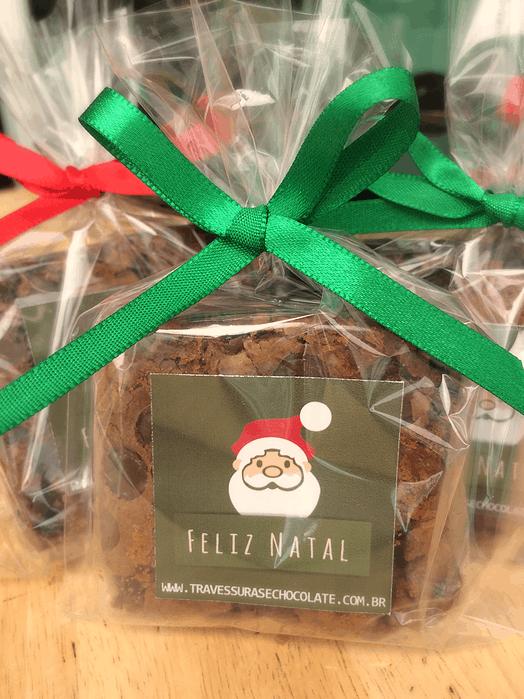 brownie em saquinho e decorado para natal 1