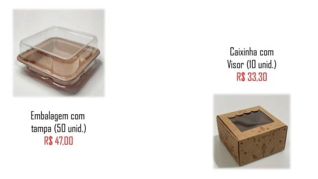 modelos e precos de embalagem brownie