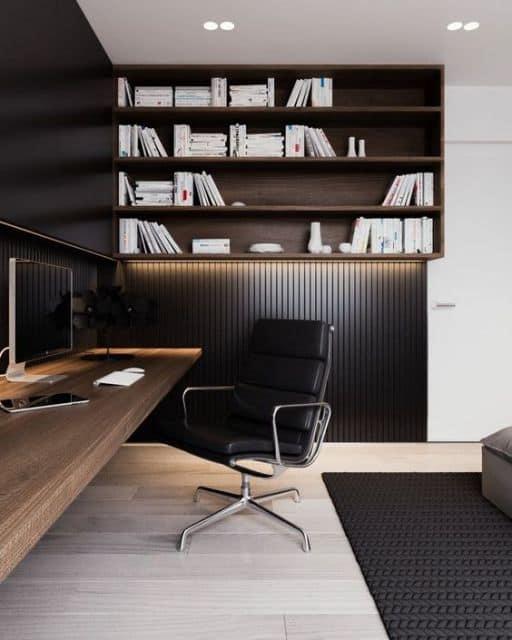 cadeira de couro preto para escritorio