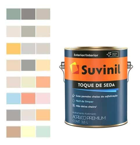 cores de tinta suvinil acrilico toque de seda