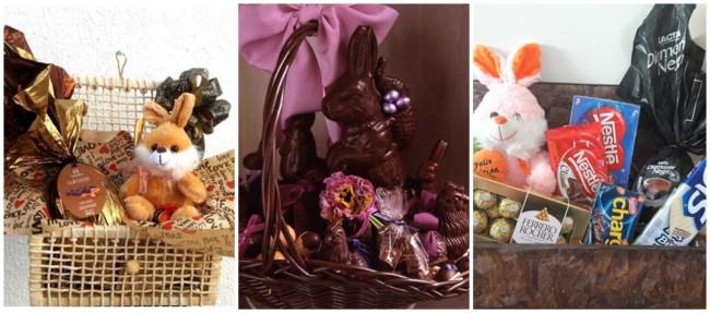 ideias para cesta de pascoa com chocolates
