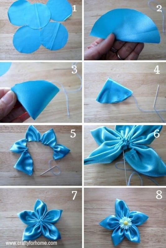 DIY para fazer flor de tecido