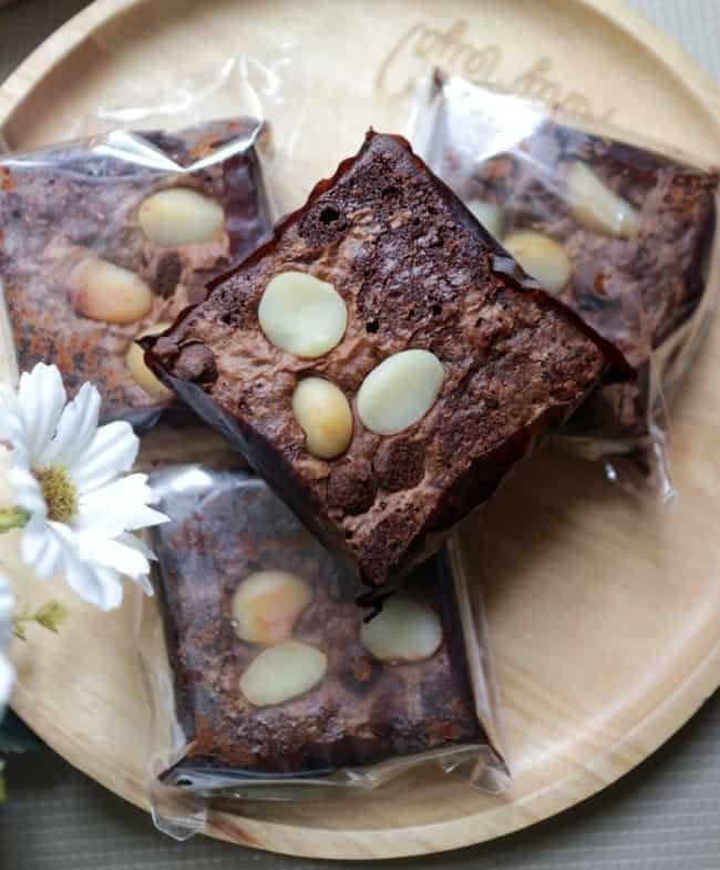 brownie para vender em embalagem transparente