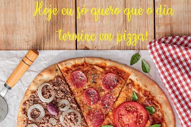 imagem e frase divertida de pizza