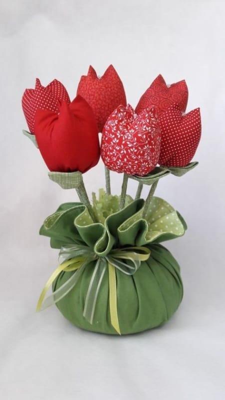 peso de porta com tulipa de tecido