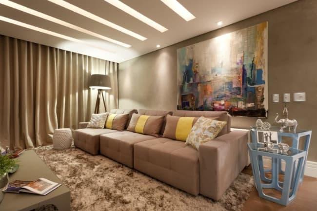 sala moderna com referencia de feng shui