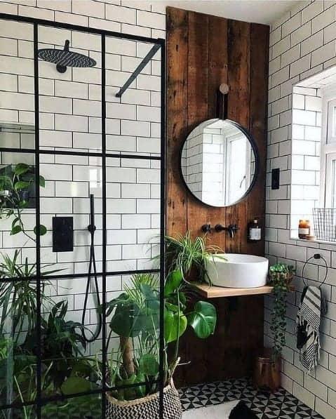 banheiro estilo urban jungle