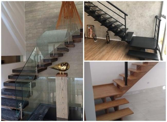 escada em L com patamar